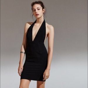 Convertible Black Jersey Bandeau Pencil Dress