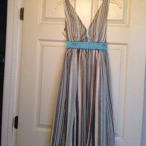 Brown and Turquoise dress, never been worn