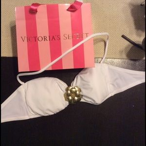 Victoria's Secret Other - Brand New Victoria's Secret White Bandeau Swim Top