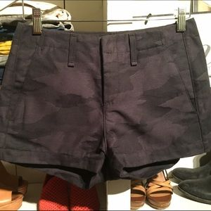 Rag & Bone Portobello Shorts Black Camo