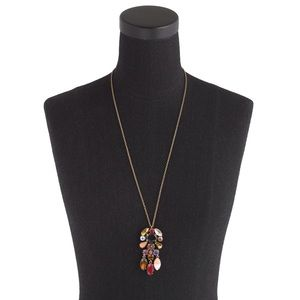 J. Crew Crystal Chandelier Pendant Necklace
