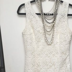 Ann Taylor floral lace dress