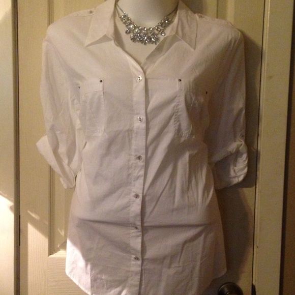 62 off catherines tops crisp white work shirt from vele for Crisp white cotton shirt