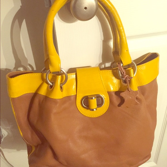 62 off boden handbags boden leather bag new from fari 39 s for Boden yellow bag