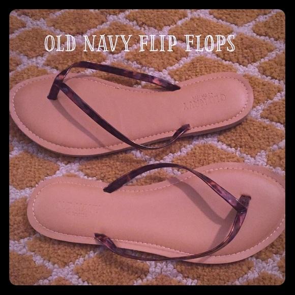 ddf2f617277d5 Old Navy Tortoise Shell Flip Flops. M 55ab00989d64e50e7c00c5eb