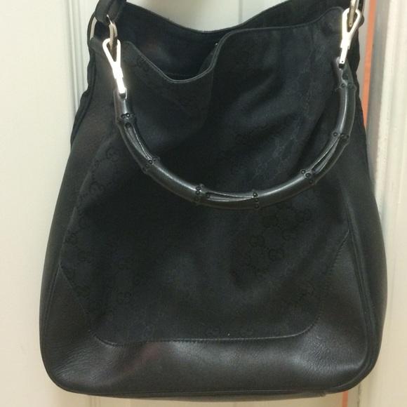 60d2ccbe6c43 Gucci Bags   Black Boho Bag W Bamboo Handle   Poshmark