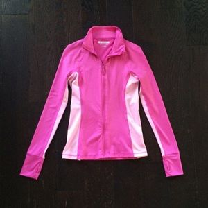 Pink Fitted Zip Up Work Out Jacket