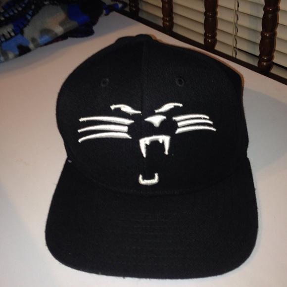 dae86a32215 Carolina Panthers SnapBack. black white. M 55ab19bf9361533b6400d9ef