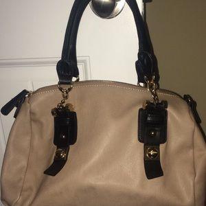 Taupe Black and Gold Handbag