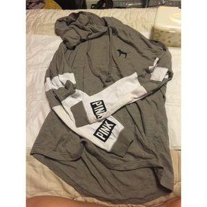 PINK long sleeve hoodie shirt