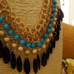 Bohemian style Tassels necklace Drops beads