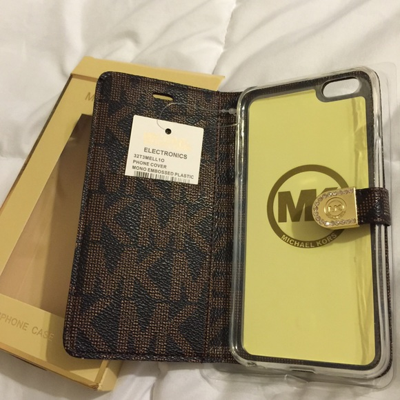 a6f0f01af888 michael kors leather case for iphone 6 plus jet set travel continental  wallet black