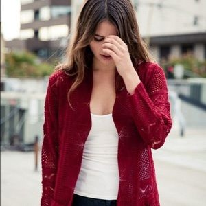 Red Brandy Melville cardigan