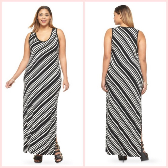 AVA & VIV Plus Size Sleeveless Tank Maxi Dress NWT