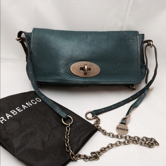 86% off Rabeanco Handbags - Rabeanco dark green cross-body bag ...