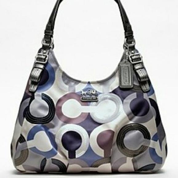 Coach Handbags - Coach Bag Madison Graphic Op Art Maggie 19180 f3eb8f6bf7b0f