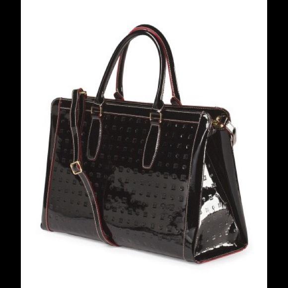 43% off Arcadia Handbags - Arcadia Black Patent Leather Bag ...