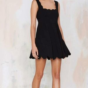Nasty gal black dress with scalloped collar