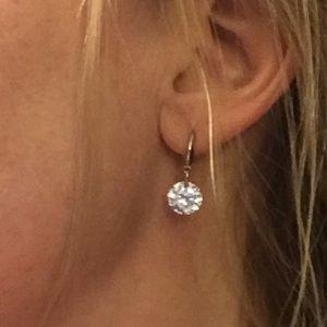 Jewelry - Swarovski Crystal & Sterling Earrings