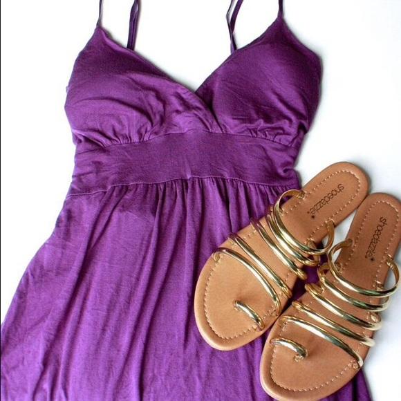 Tops - Purple tie-back tank