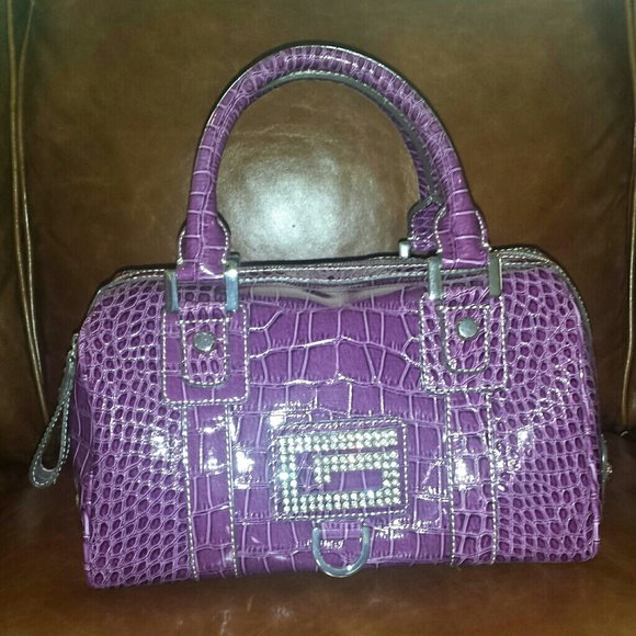 NWT Guess Satchel Handbag (Purple) NWT