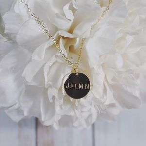 Stamped Gold Filled Circle Necklace