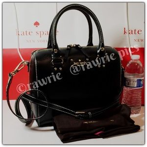 New Kate Spade black leather Alessa Satchel