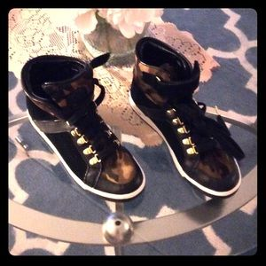 Michael Kors black high top sneakers