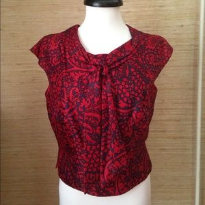 Vintage Top with Neck Tie