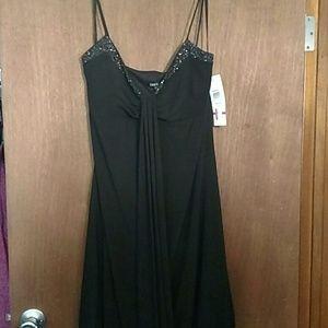 NWT Macy's Onyx Nite Evening Gown w/ Stone- LBD