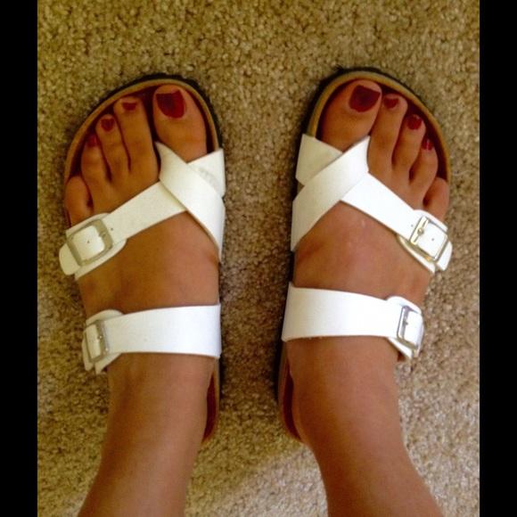 6a3bdd7e32a Birkenstock Shoes - Fake White Birkenstock Sandals