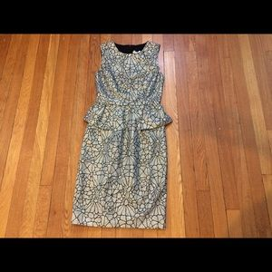 ERIN by Erin Fetherston Dresses & Skirts - NWOT Gold Metallic and Black Peplum Dress