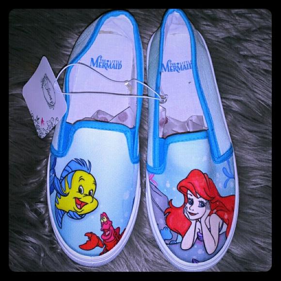 b8e099d2669 Little mermaid slip on vans style shoes size 7   8