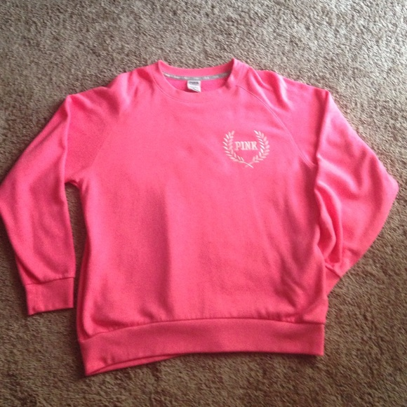 50% off PINK Victoria's Secret Tops - VS Pink oversized crew neck ...