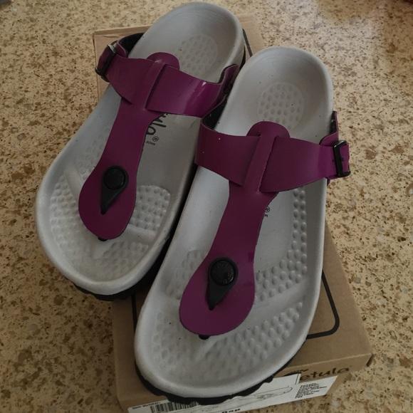 ed50de0f481b Birkenstock Shoes - Birkenstock Betula purple sandals size 36