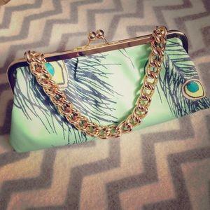 ⚡️⚡️Custom Peacock Bag/Clutch
