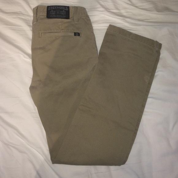 88% off Free World Pants - Boys Free World khaki pants size 27 ...