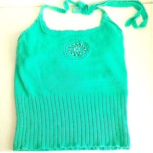 Milly Sweaters - Milly green crochet halter sweater top- NWT!