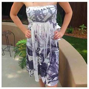 Christina Love Dresses & Skirts - Strapless Embellished Dress Sz S