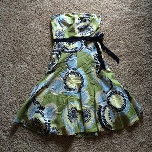 BCBGMAXAZARIA green floral dress