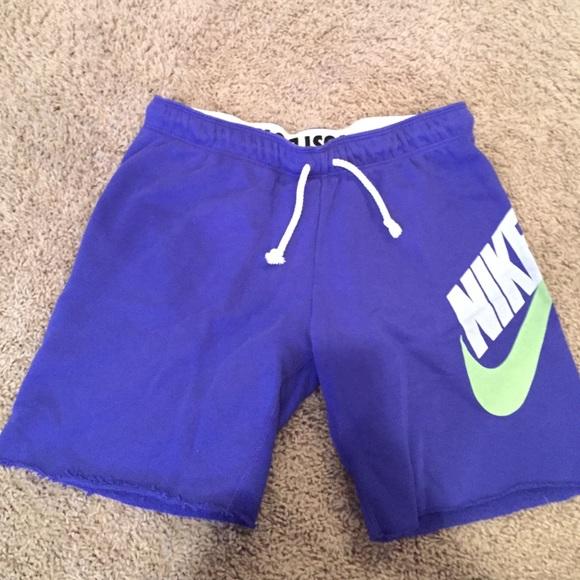 Nike Pants - Nike purple blue sweat-shorts c17c4c622642