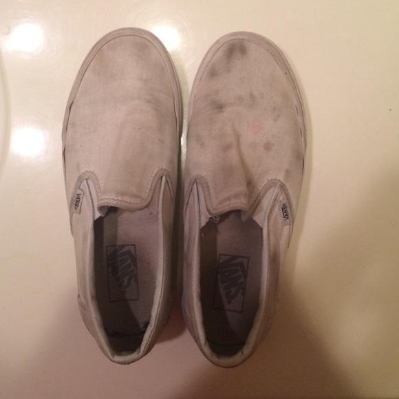 Vans Shoes | Vans White Slip On Womens