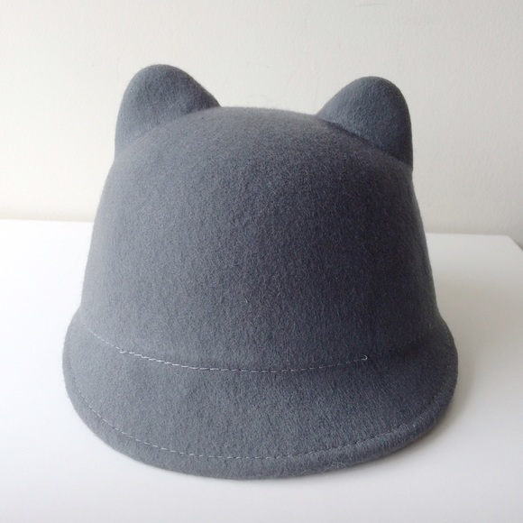 f8ba19beb65 Zara Felt Hat with Cat Ears