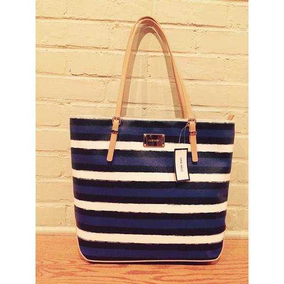 35e331136 Nine West Bags | Striped Tote Bag | Poshmark