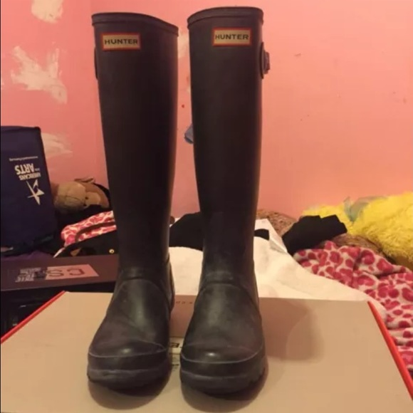 41% off Hunter Boots - Hunter boots size 6 matte black from ...