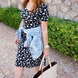 Dresses & Skirts - Floral Midi Dress Short Sleeves