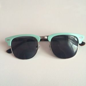 uo teal and brown clubmaster sunglasses