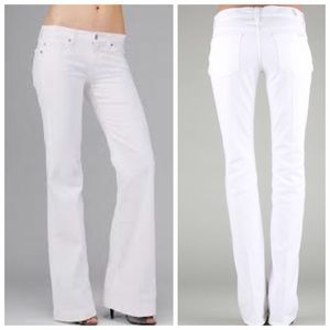 "7 FAM White Jeans ""A"" Pocket"