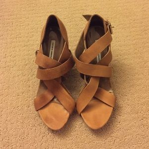Kathryn Amberleigh Tan Nubuck Leather Heels
