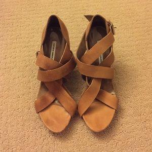Kathryn Amberleigh Shoes - Kathryn Amberleigh Tan Nubuck Leather Heels